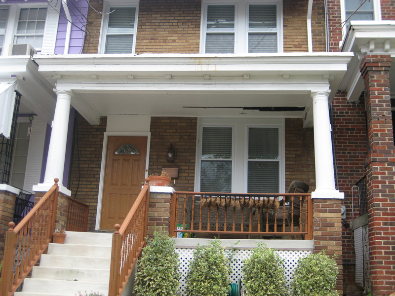 Front Porch Replacement: Girard St. NE Washington D.C.